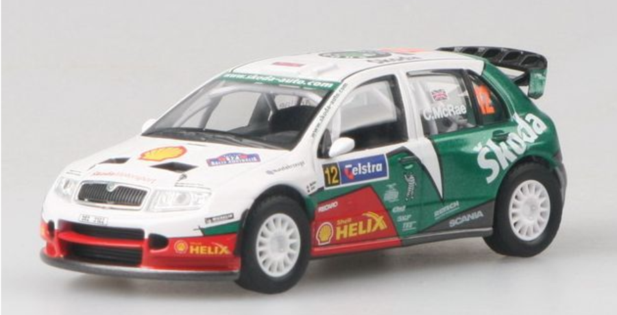 Skoda Fabia WRC Rally Australia 2005 Colin McRae 1/43 scale model