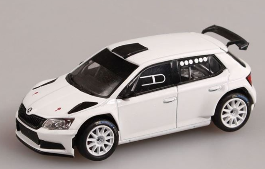 Skoda Fabia III R5  White Tarmac Spec  1/43 Model Car