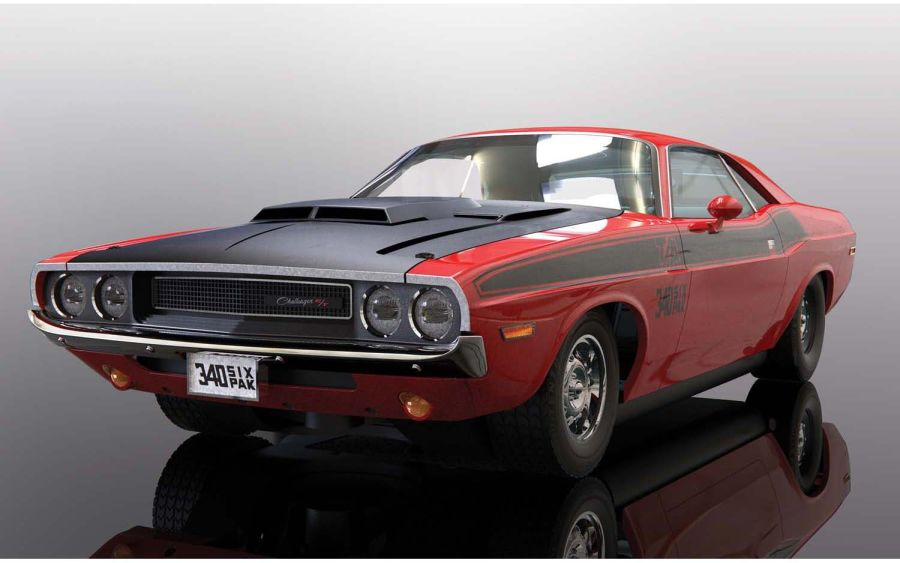 Dodge Challenger - Red & Black