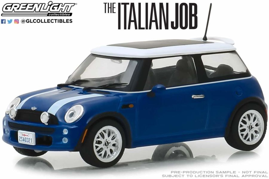 1/43 The Italian Job (2003) - 2003 Mini Cooper - Blue