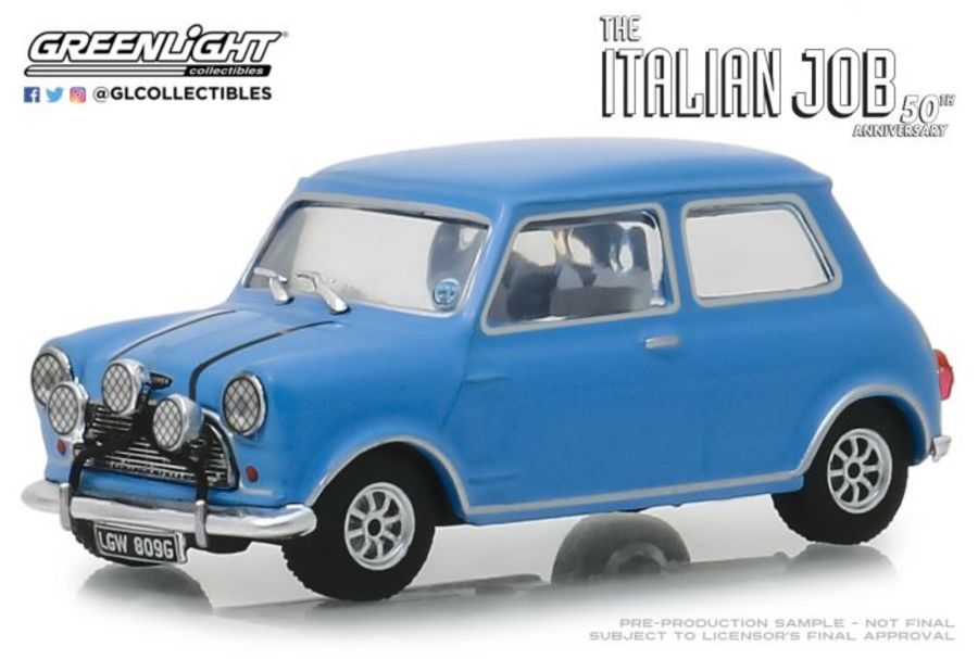 1/43 The Italian Job (1969) - 1967 Austin Mini - blue