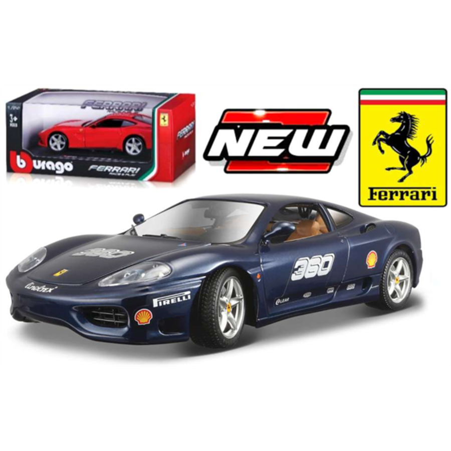 Ferrari 360 Challenge Metallic blue 1/24 scale model car