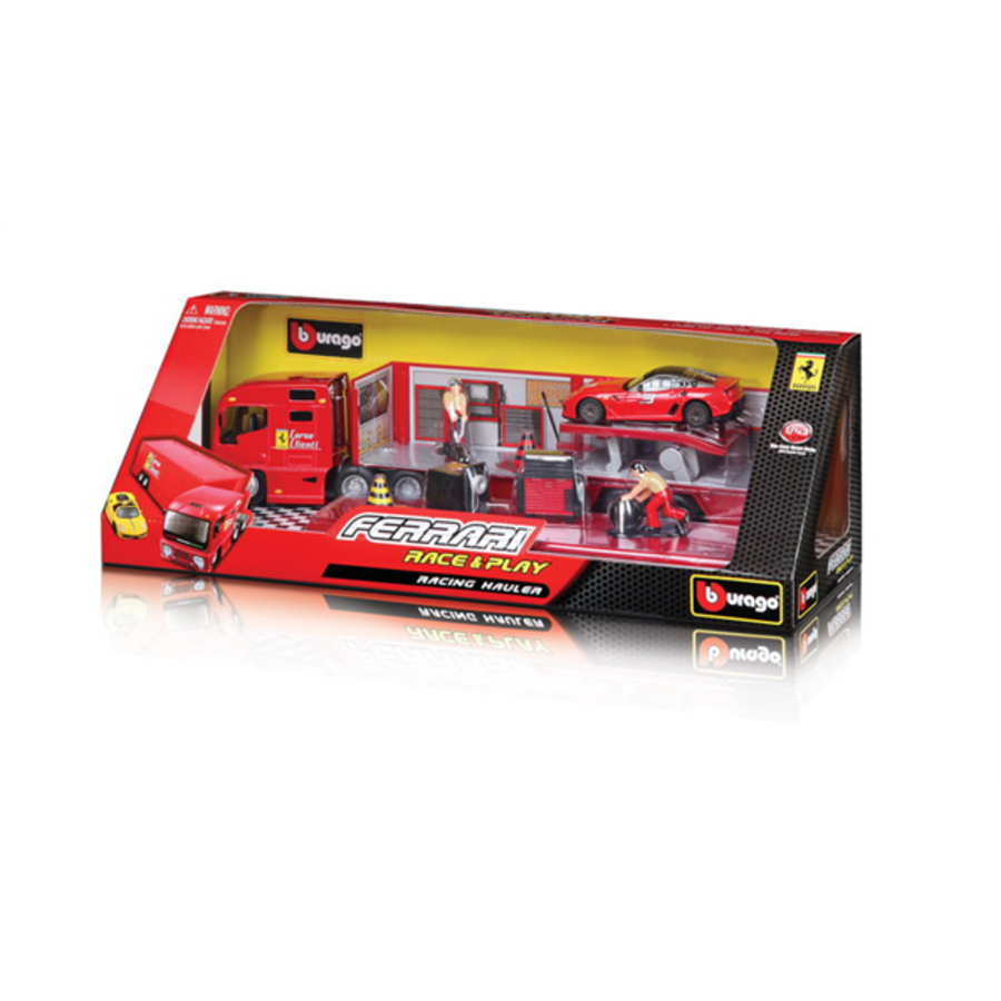 1/43 Ferrari Race Transporter including  1 Ferrari model car