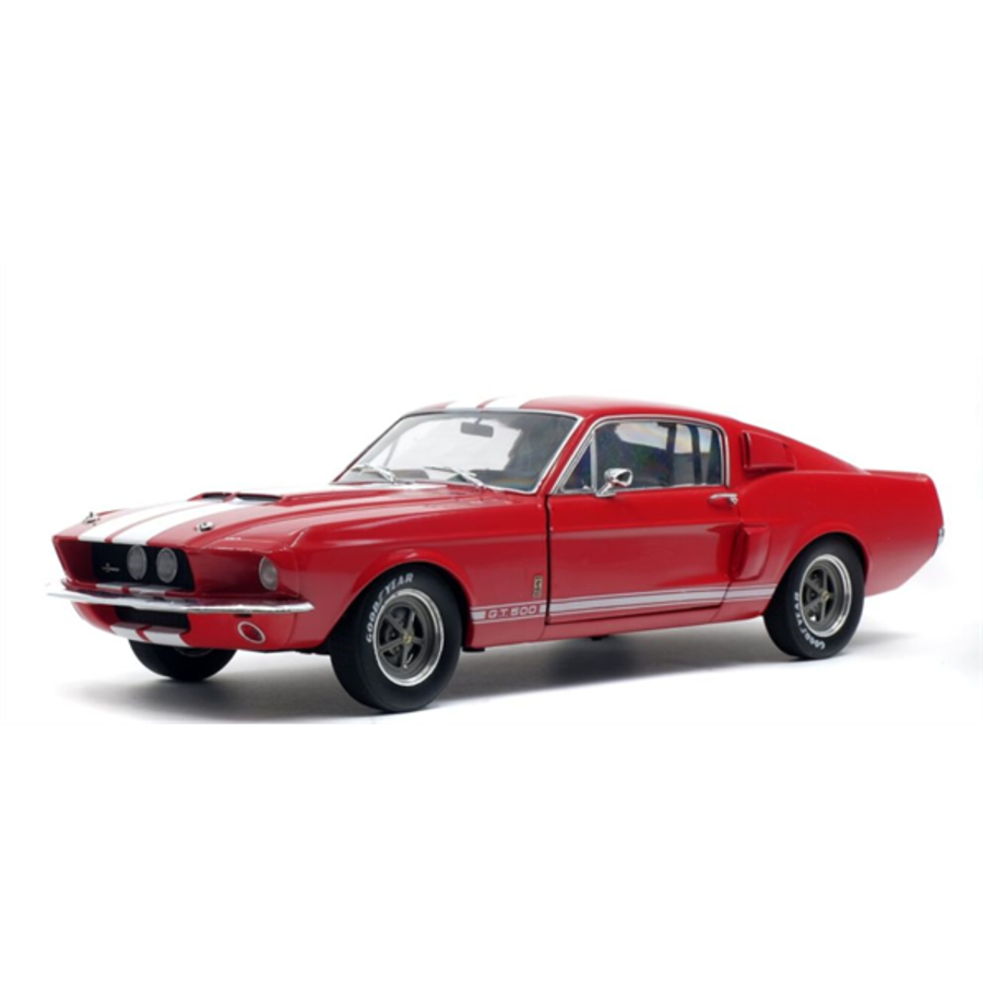 1/18 Shelby Mustang GT500 Red/White Stripes 1967