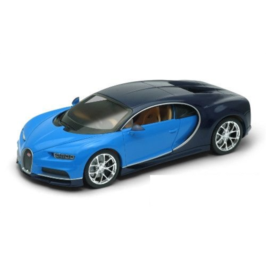 1/24 Bugatti Chiron Blue model car