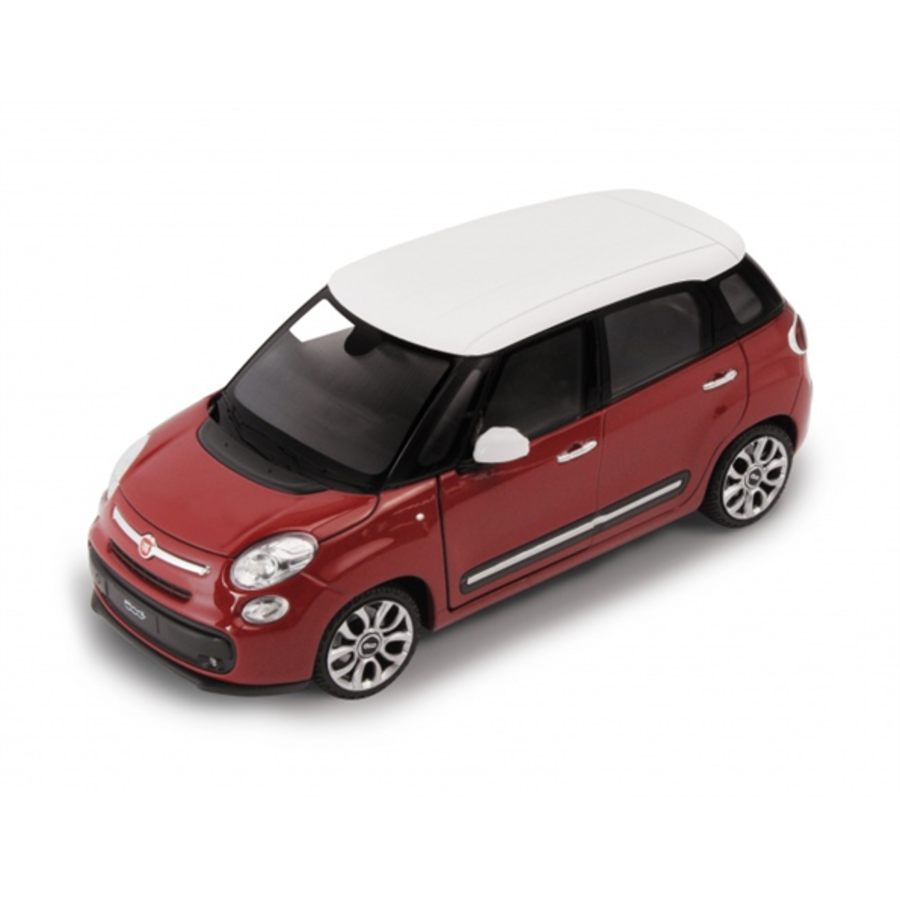 1/24 Fiat 500L 2013 - Red (White Roof) model car