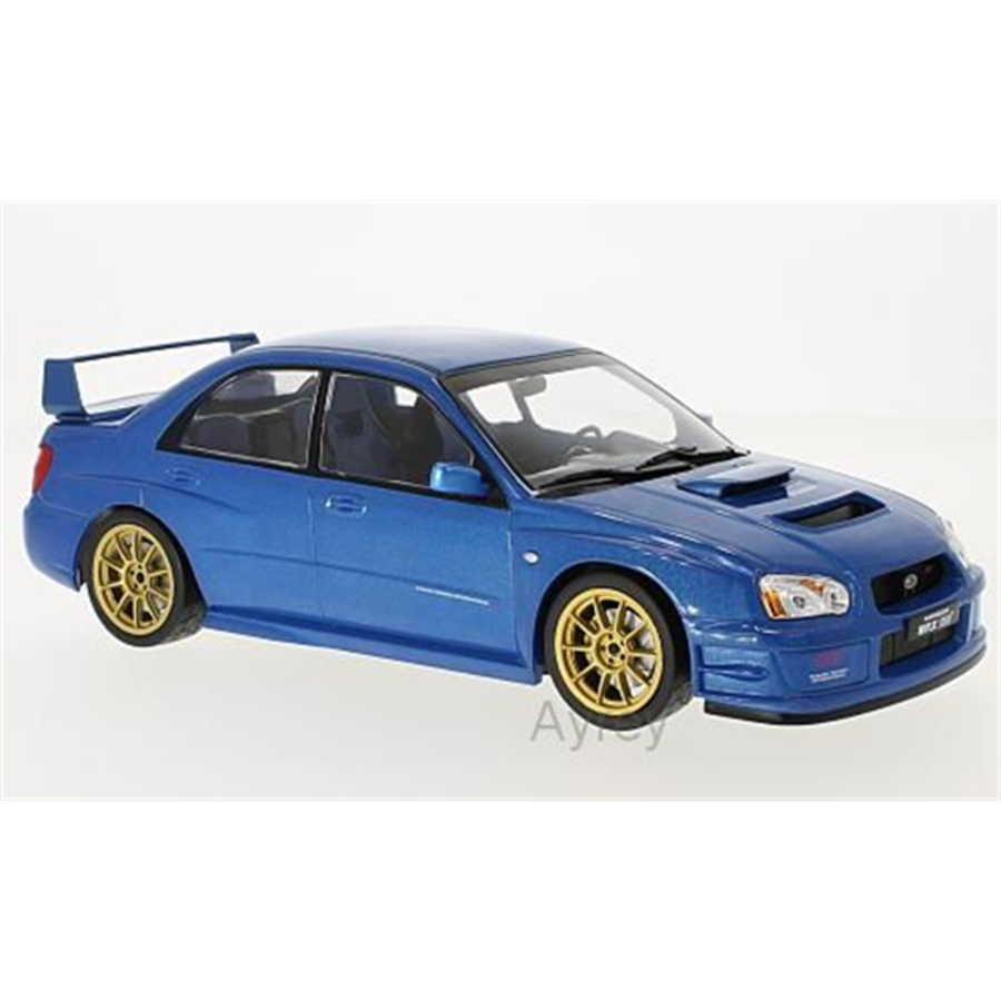 1/18 Subaru Impreza WRX STI , blue, 2003 model car