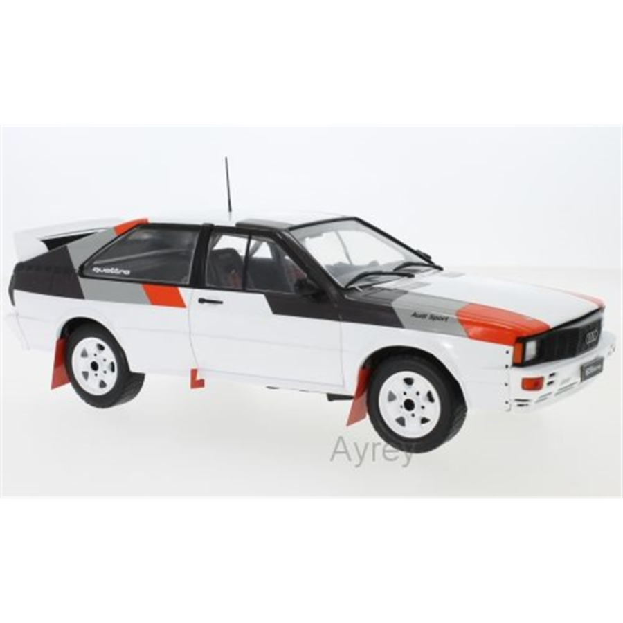 1/18 Audi Quattro White Rally Spec Model Car