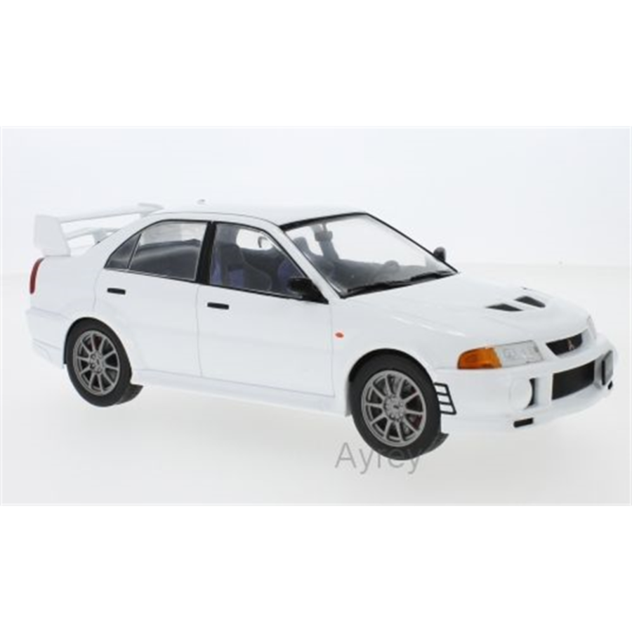 1/18 Mitsubishi Lancer RS Evo V white 1998 model car