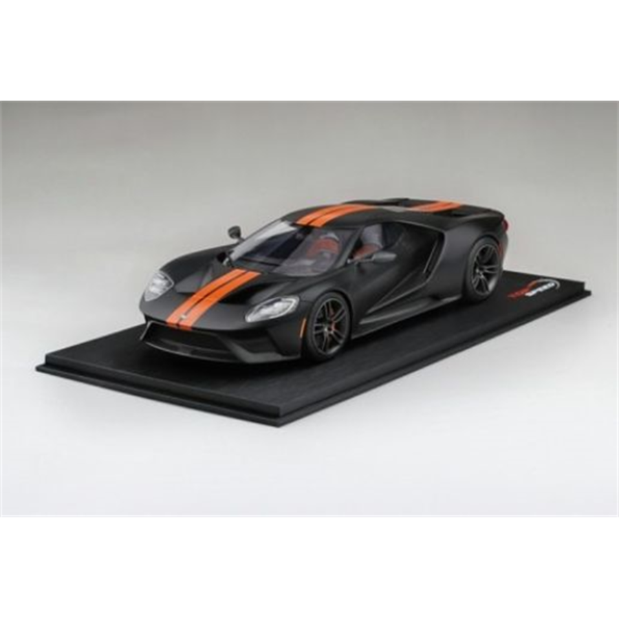 1/18 Ford GT Matte Black with Competition Orange Stripe Limited Edition