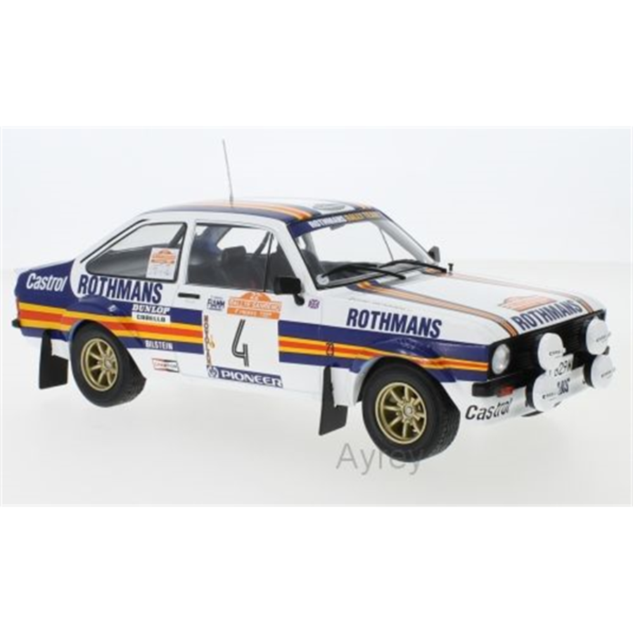 Ford Escort MK2 RS #4 San Remo 80 Vatanen 1/18 model
