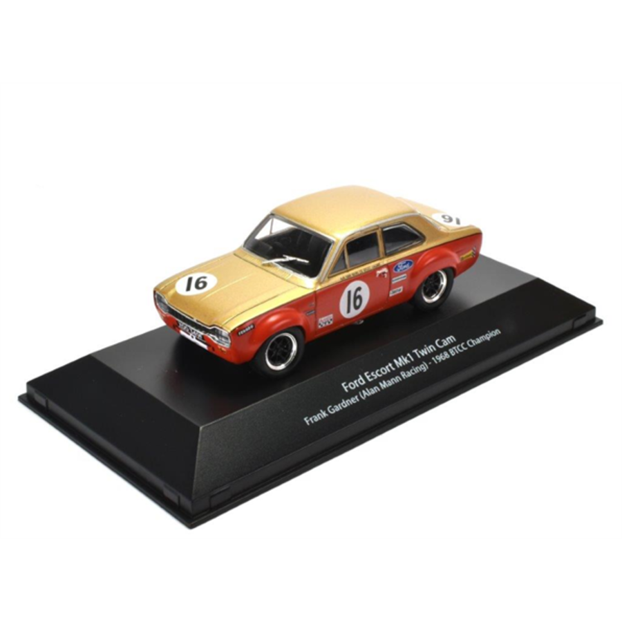 1/43 Ford Escort Mk1 Twin Cam - BTCC Champion Frank Gardner (Alan Mann Racing) - 1968 model car