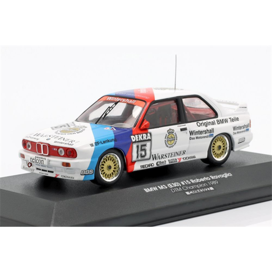 1/43 BMW M3 E30 #15 DTM 1989 Roberto Ravaglia model car