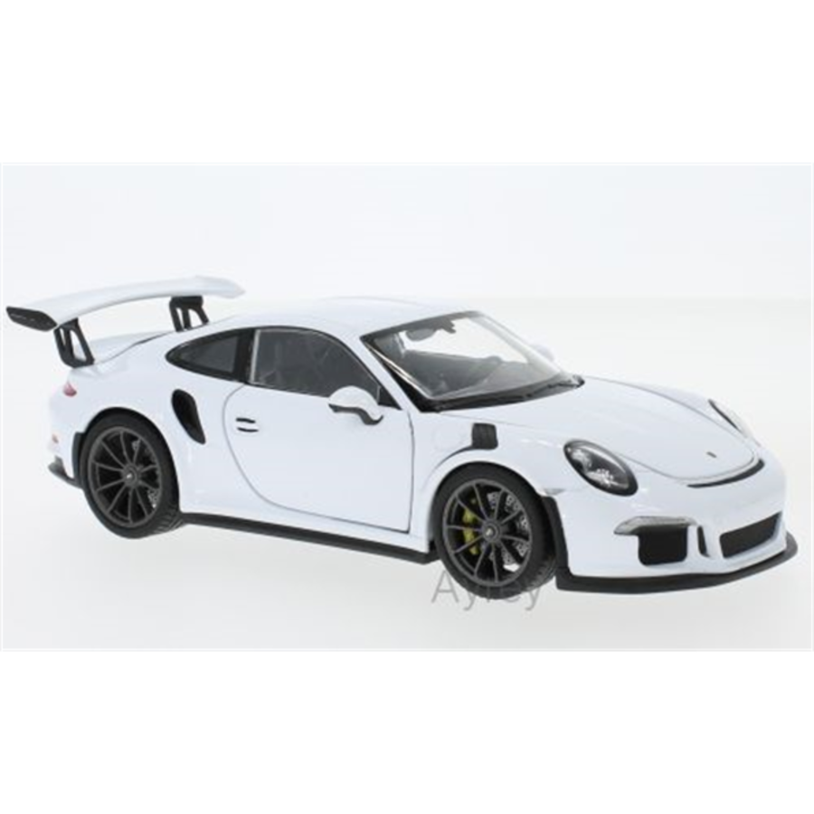 1/24 Porsche 911 GT3 RS 2015 white model car