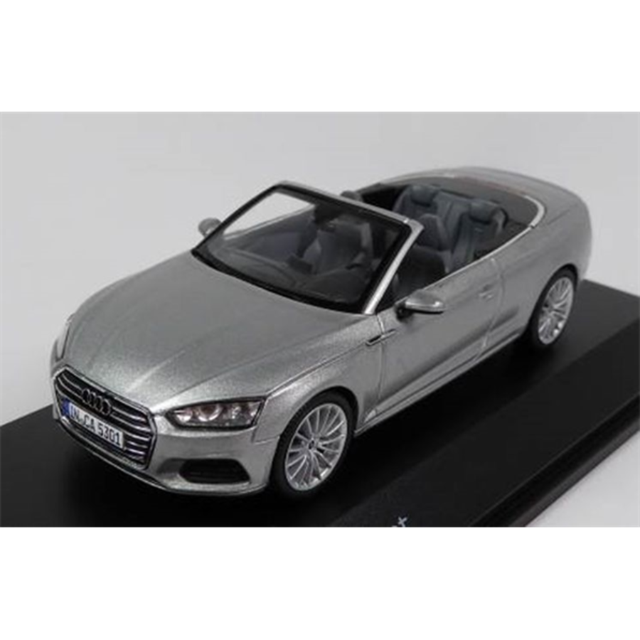 Audi A5 Cabriolet - Florett Silver  1/43 scale model car