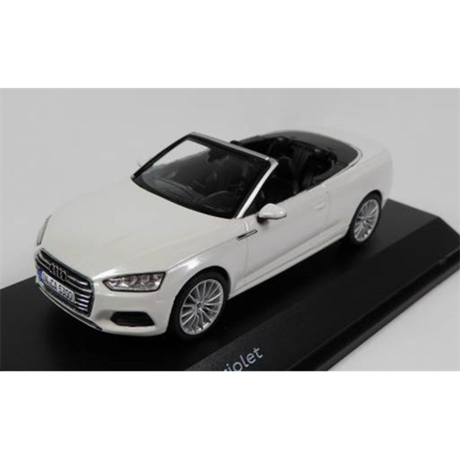 Audi A5 Cabriolet - Glacier White  1/43 scale model car