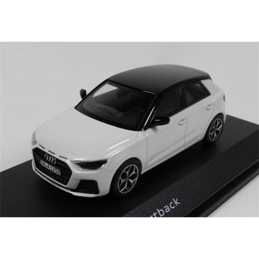 Audi A1 Sportback Glacier white  1/43 scale model car