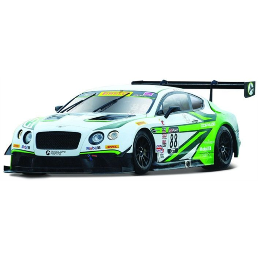 1/24 Bentley Continental GT3 #88 - White/Green model racing car