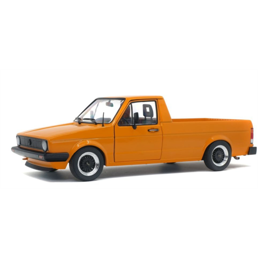 1/43 Volkswagen Caddy MK1 Custom Orange Metallic 1982 model pick up truck