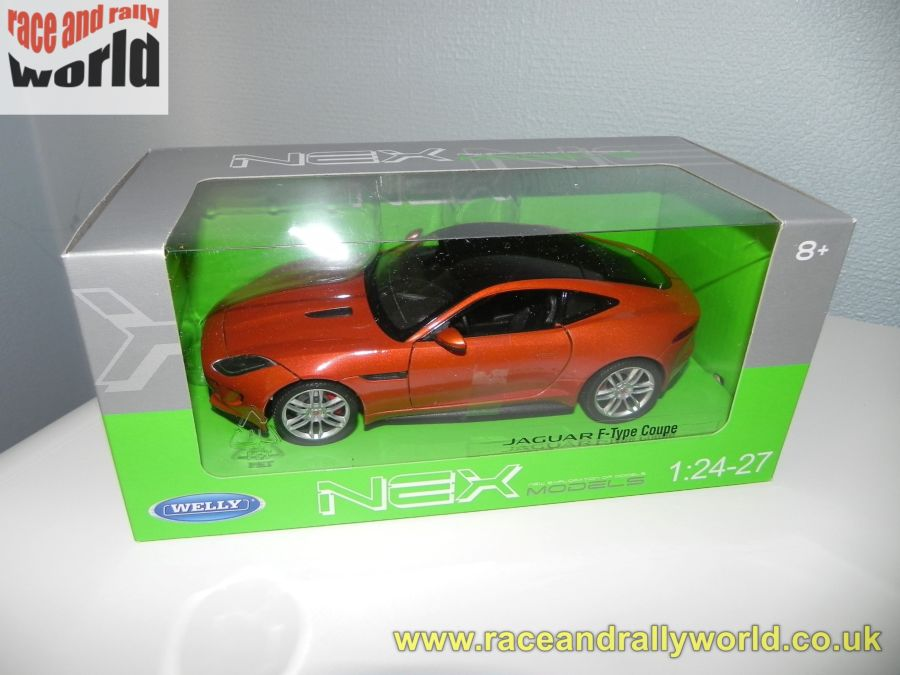 1/24 Jaguar F-Type Coupe Orange Copper metallic model car