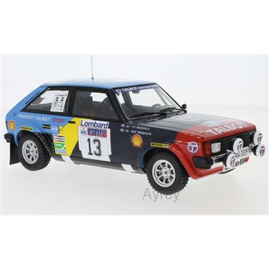 Talbot Sunbeam Lotus #13 RAC Rally 82 Frequelin 1/18 model car