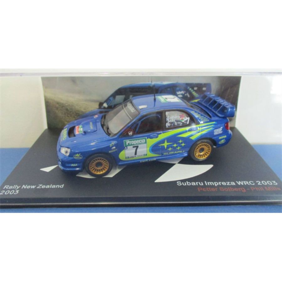 Subaru Impreza WRC Rally New Zealand 2003 Petter Solberg 1/43 model car
