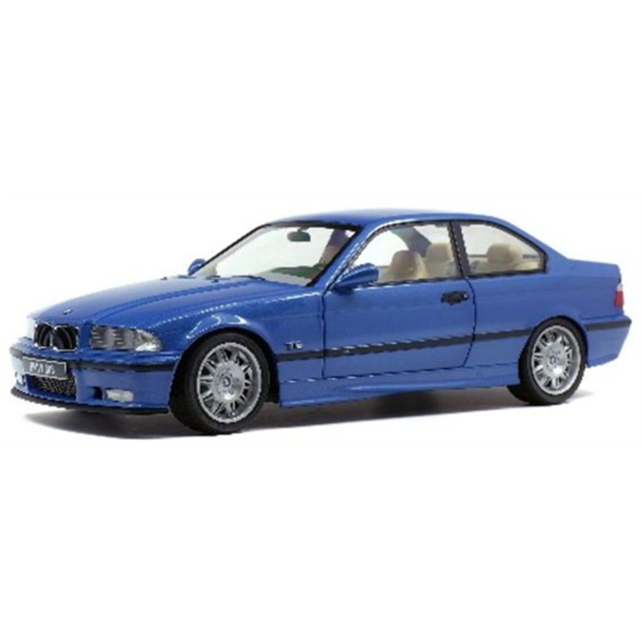 1/18 BMW E36 Coupe M3 Estoril Blue + Custom Decal Kit 1992 model car