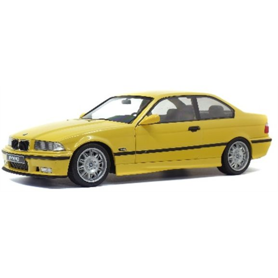 1/18 BMW E36 Coupe M3 Dakar Yellow + Custom Decal Kit 1992 model car