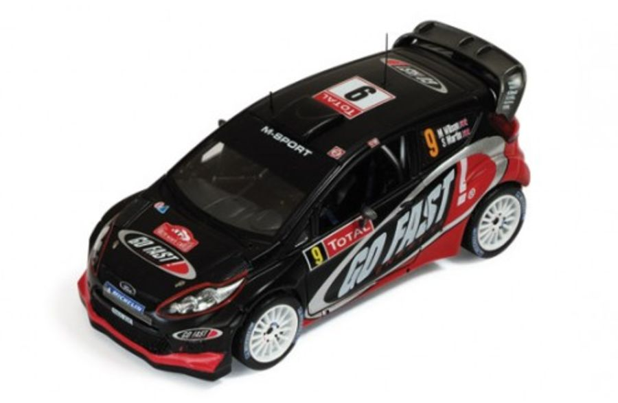 1/43 Ford Fiesta RS WRC #9 M. Wilson-S. Martin Rally Monte Carlo 2012 model rally car