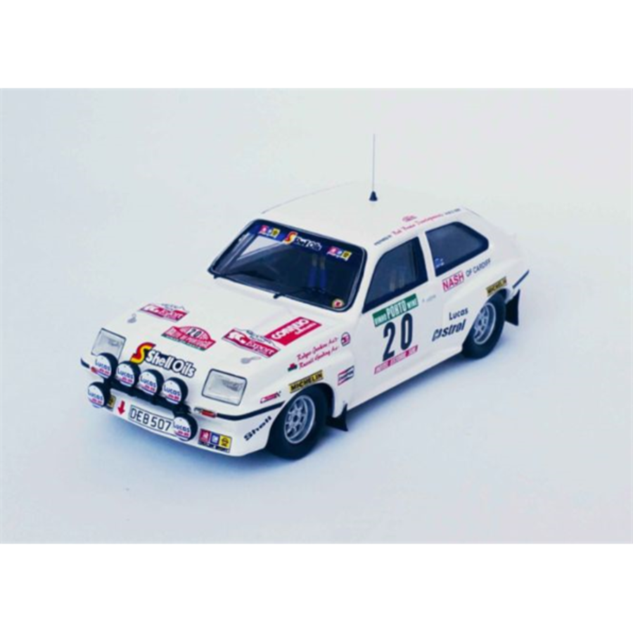 Vauxhall Chevette HSR Rally of Portugal 1984 Russell Gooding/Rodger Jenkins 1/43 scale model rally car