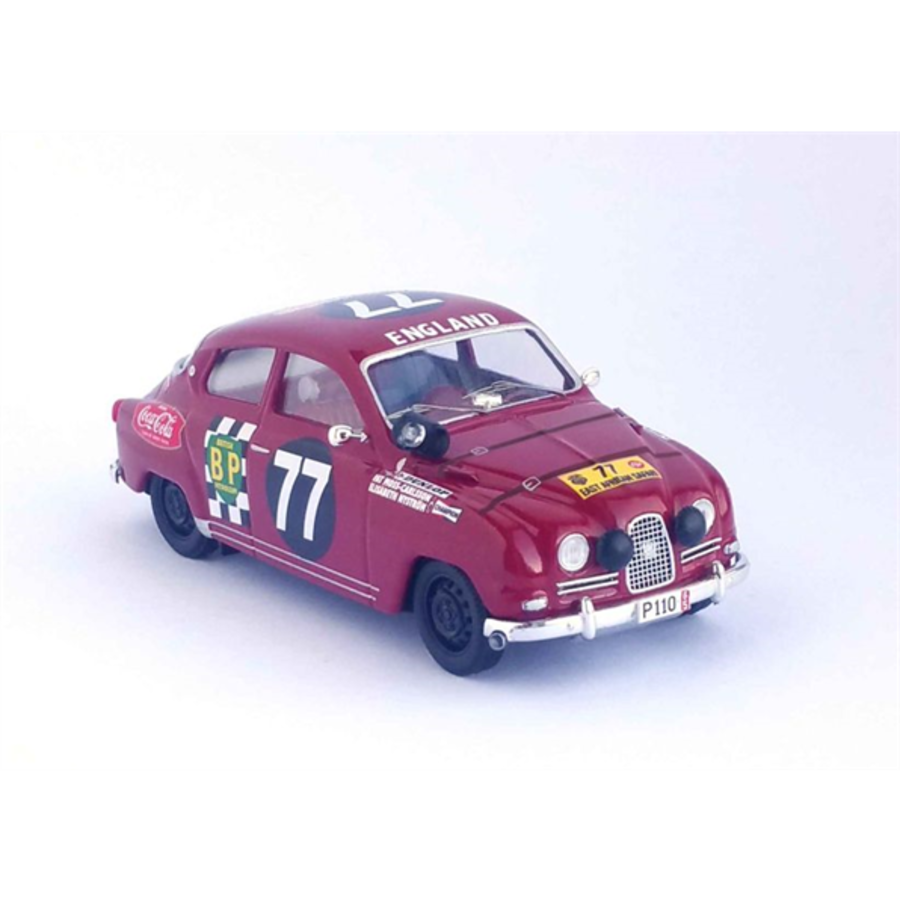 Saab 96 East African Safari 1965 Pat Moss  Elisabeth Nystrom 1/43 scale model rally car