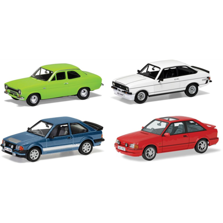1/43 Ford Escort RS Collection  'Four Decades of Success' model car set