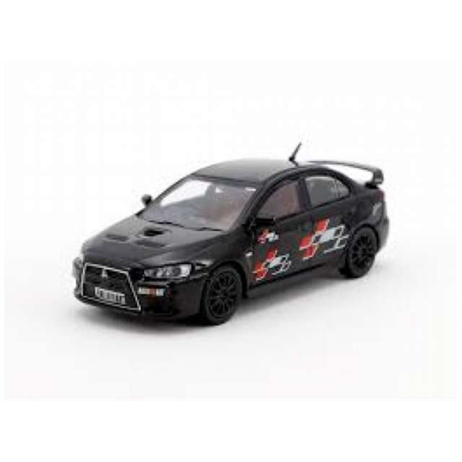 Mitsubishi Evo X Ralliart Edition, Black 1/64 scale model car
