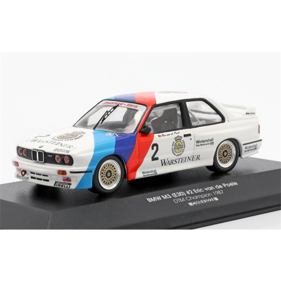 BMW M3 (E30) #2 Eric van de Poele 1/43 model car
