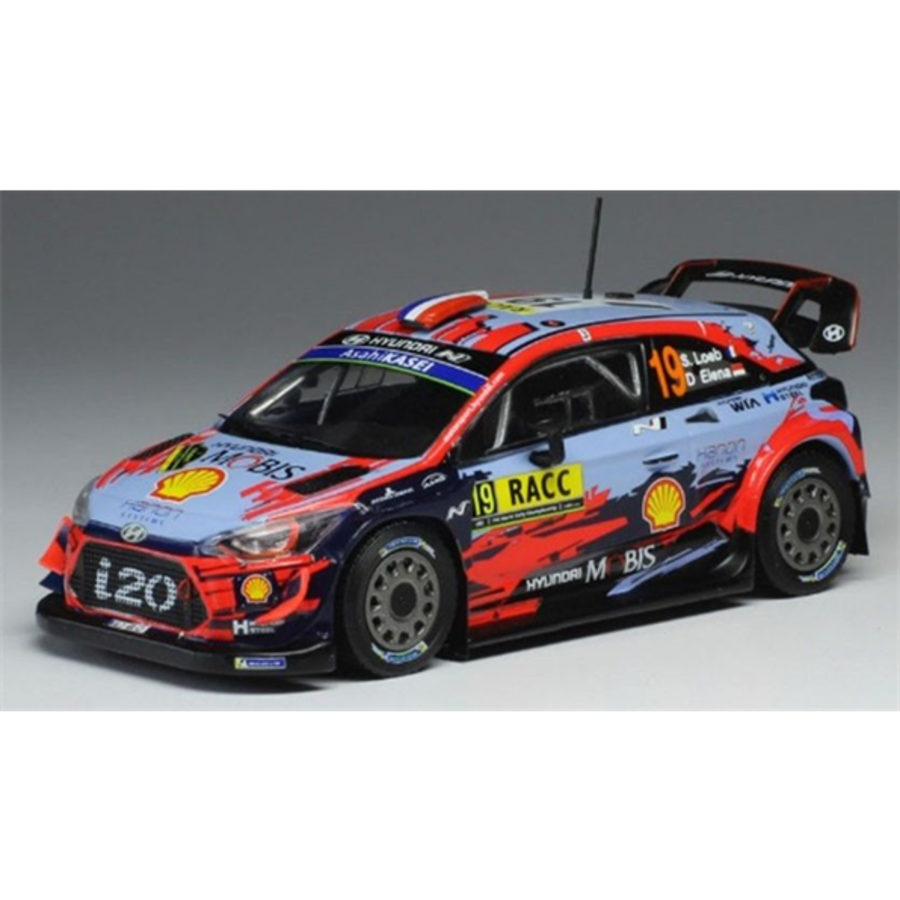 Hyundai i20 WRC #19 Rally Catalunya 2019 S.Loeb 1/43 model car