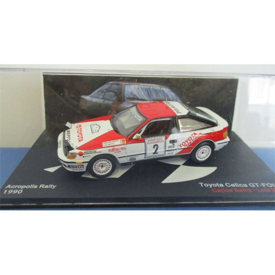 Toyota Celica GT4 Rally Acropolis 1990 C.Sainz 1/43 scale model car