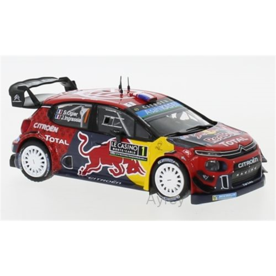 Citroen C3 WRC, No.1, WRC MC2019 S.Ogier/J.Ingrassia 1:43 model rally car