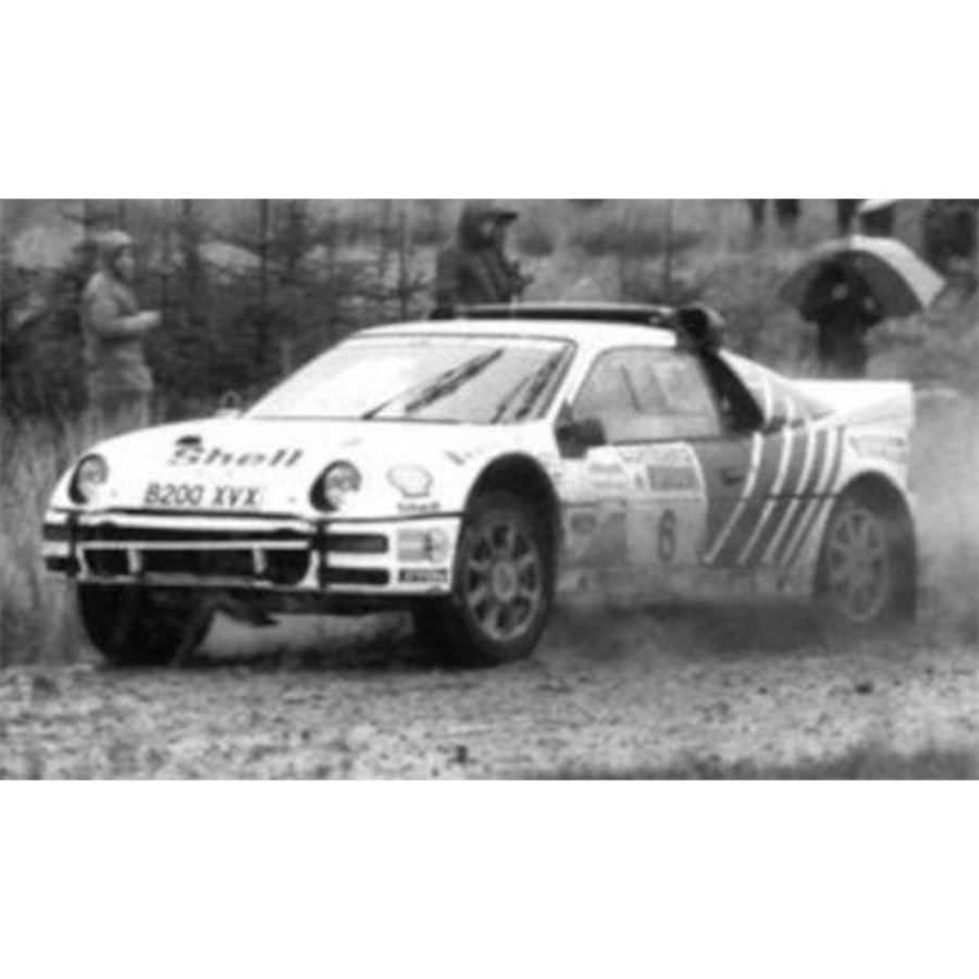 Ford RS200 #6 RAC Rally 1986 K.Grundel/ B.Melander 1:43 model car