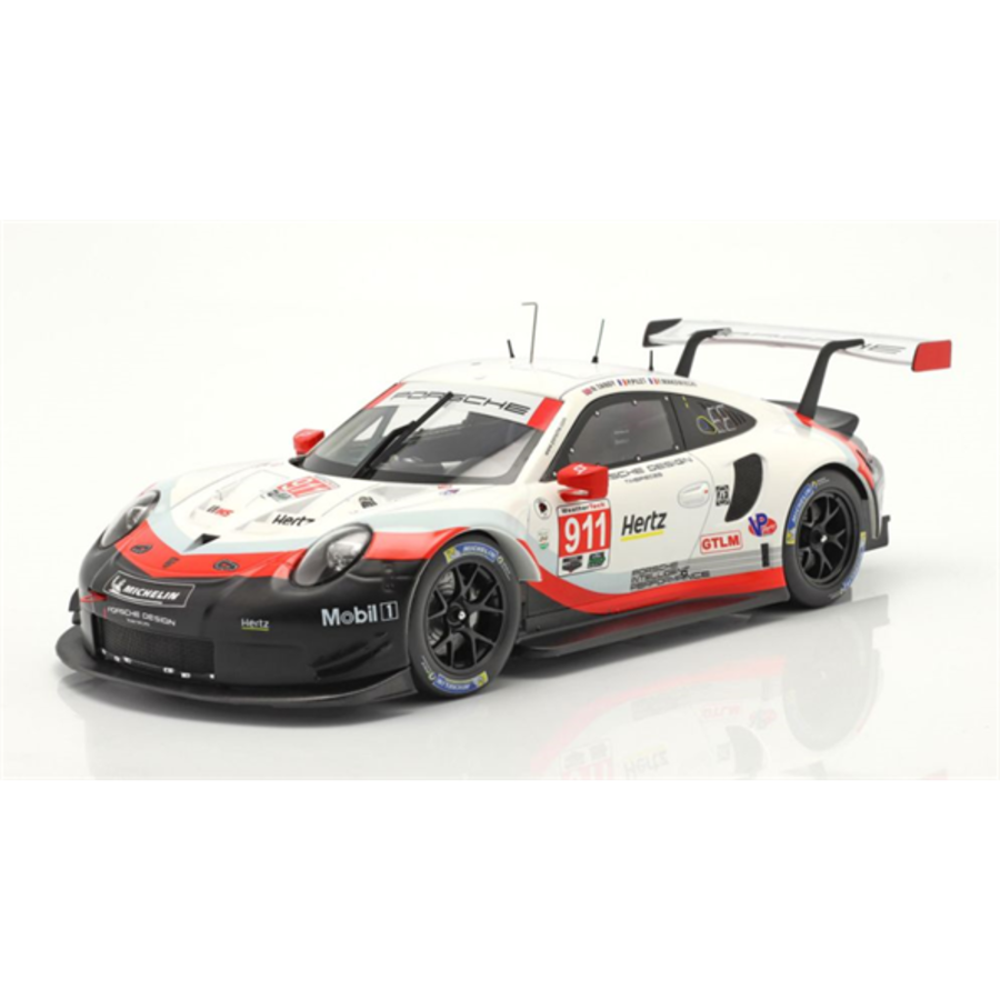 Porsche 911 (991) RSR #911 24h Daytona 2018  1/18 scale racing car