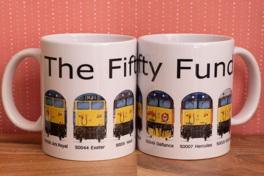 Fifty Fund Mug - 6 Loco Fronts (now available with matching coaster)