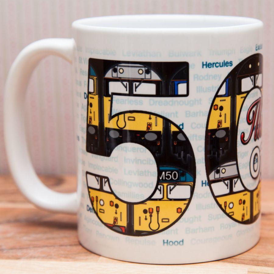 50th Anniversary of Class 50 Mug (Illustrious Years)