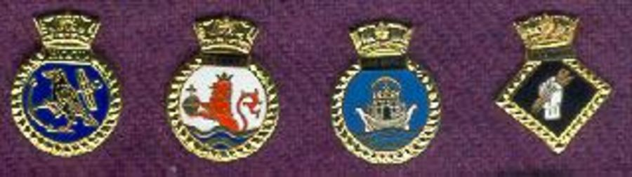 Set of 4 Crest Pins (31, 35, 44 & 49)