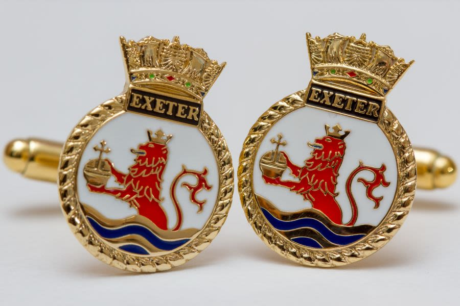 Class 50 Loco / Naval Crest Cufflinks (Various locos)