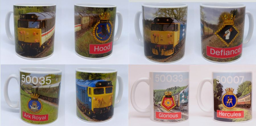 Fifty Fund Loco Photo & Crest Mugs (Various Locos)