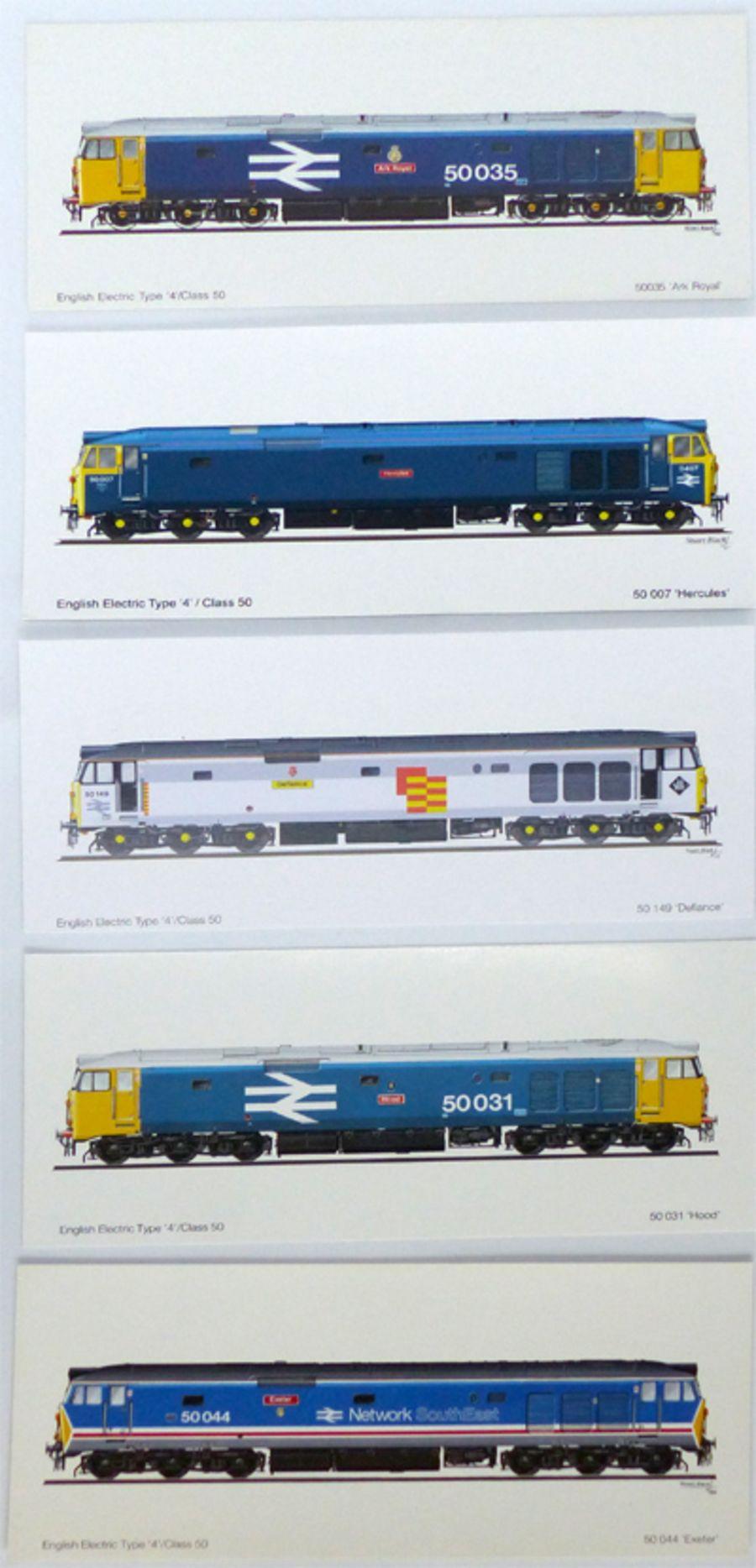 Class 50 Profile cards