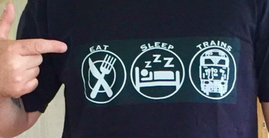 Eat Sleeps Trains T-Shirt