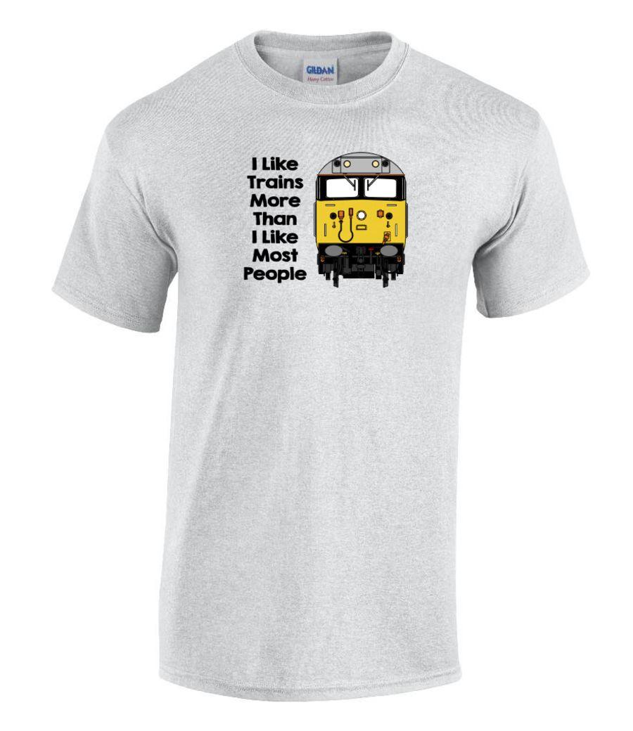 I Like Trains More than I like most people T Shirt - Class 50