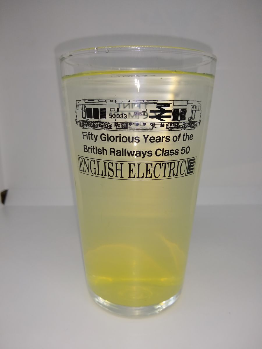 Fifty Glorious Years of the Class 50 Pint Glass