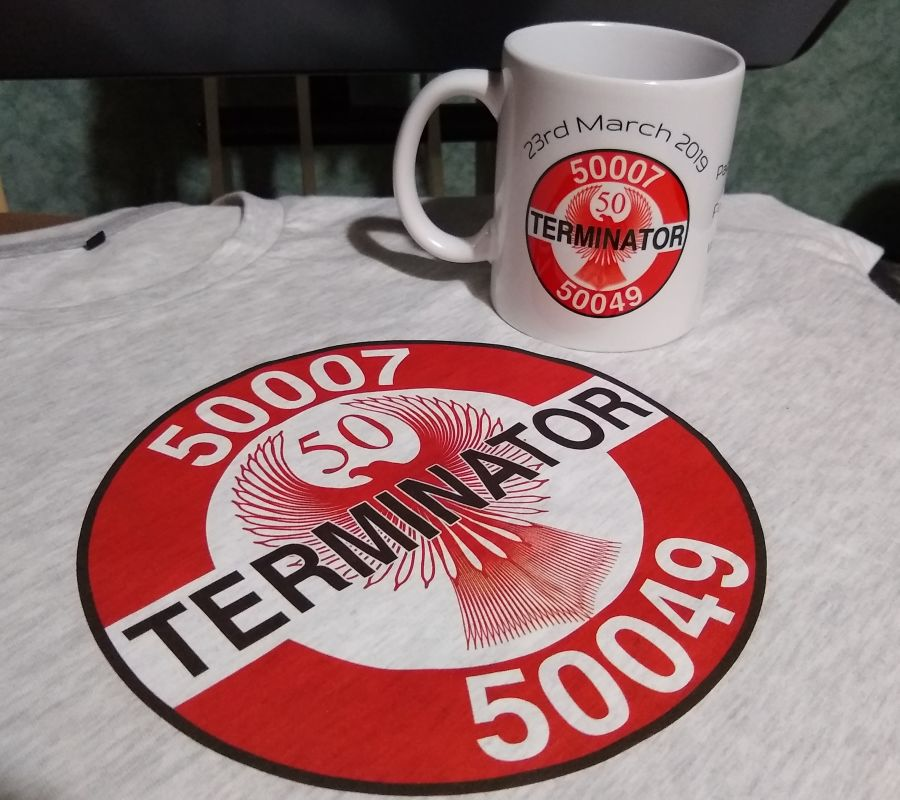 'The Fifty Terminator - Phoenixed' - Commemorative T Shirt and Mug set