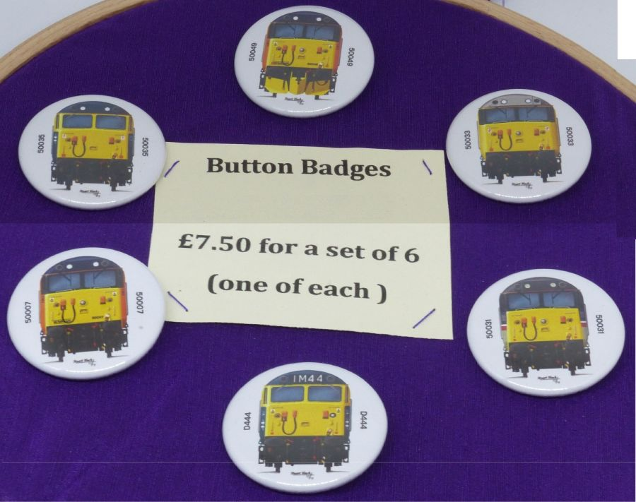 Loco Front Button Badges 07, 31, 33, 35, 44 and 49